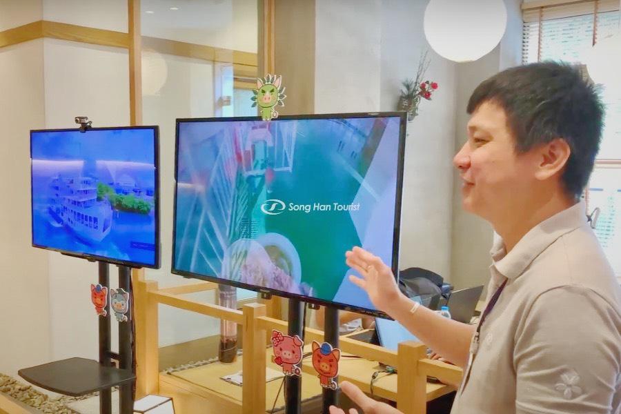 Du lịch Kagoshima trực tuyến - Hướng dẫn viên đang hướng dẫn về các vùng tại Kagoshima